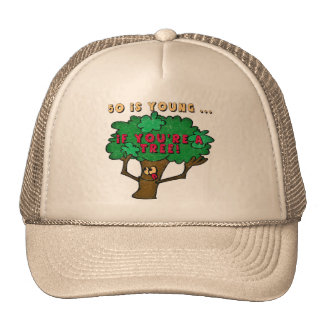 Fifty Is Young 50th Birthday Gifts Trucker Hats