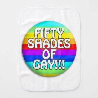 FIFTY SHADES OF GAY MULTI SHADE BABY BURP CLOTH