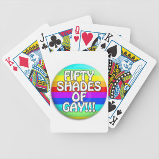 FIFTY SHADES OF GAY MULTI SHADE BICYCLE PLAYING CARDS