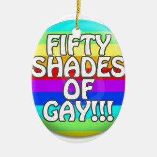 FIFTY SHADES OF GAY MULTI SHADE CERAMIC ORNAMENT