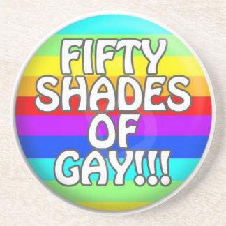 FIFTY SHADES OF GAY MULTI SHADE COASTER