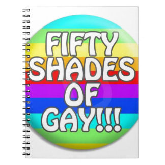FIFTY SHADES OF GAY MULTI SHADE NOTE BOOKS