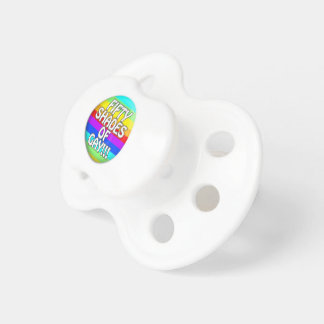 FIFTY SHADES OF GAY MULTI SHADE PACIFIERS