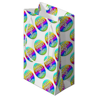 FIFTY SHADES OF GAY MULTI SHADE SMALL GIFT BAG