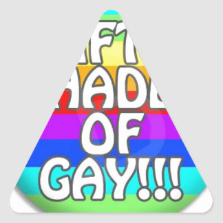 FIFTY SHADES OF GAY MULTI SHADE TRIANGLE STICKER