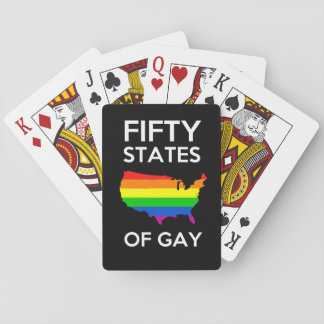 fifty states of gay gay pride playing cards