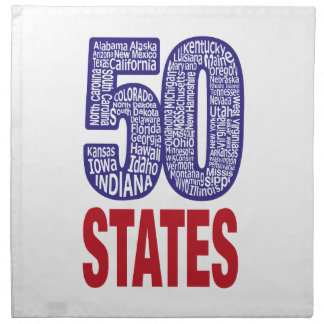 Fifty United States of America Napkin