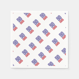 Fifty United States of America Paper Napkin