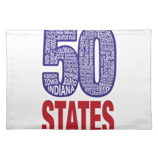 Fifty United States of America Placemat