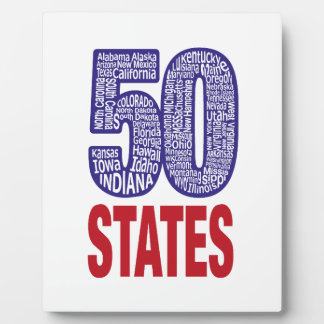 Fifty United States of America Plaque