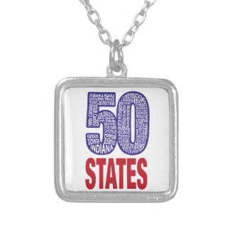 Fifty United States of America Silver Plated Necklace