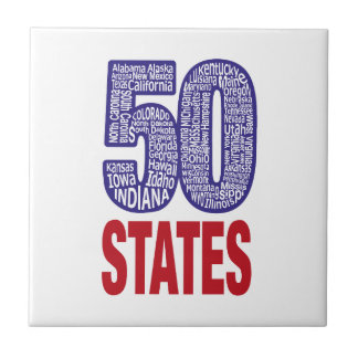 Fifty United States of America Small Square Tile