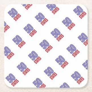 Fifty United States of America Square Paper Coaster
