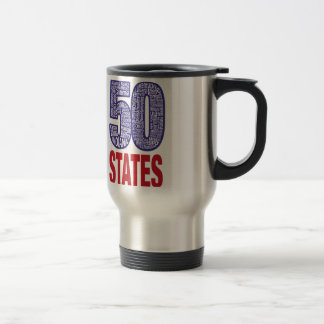 Fifty United States of America Travel Mug