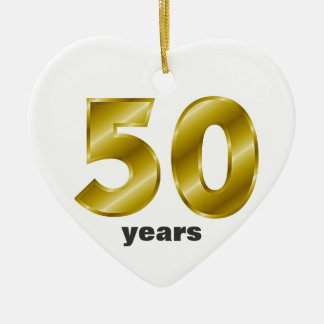 Fifty Years of Marriage - Personalizable Ceramic Heart Decoration