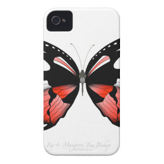 fig 4 Red Butterfly by tony fernandes Case-Mate iPhone 4 Case