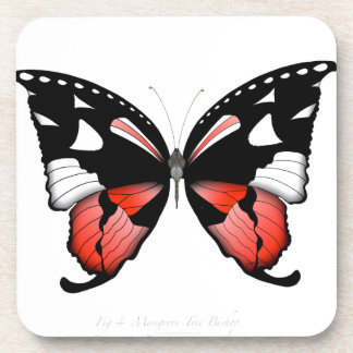fig 4 Red Butterfly by tony fernandes Coaster
