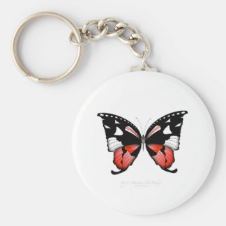 fig 4 Red Butterfly by tony fernandes Key Ring