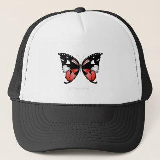 fig 4 Red Butterfly by tony fernandes Trucker Hat
