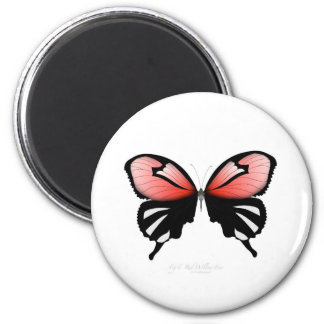 fig 6 Red Butterfly by tony fernandes Magnet