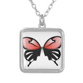 fig 6 Red Butterfly by tony fernandes Silver Plated Necklace