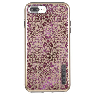Fig and Plum Purple Floral Victorian Damask Incipio DualPro Shine iPhone 8 Plus/7 Plus Case
