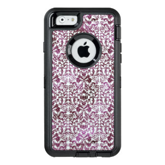 Fig and Plum Purple Floral Victorian Damask OtterBox Defender iPhone Case