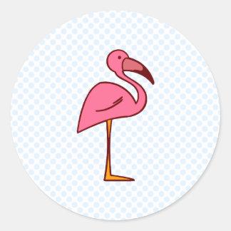 Figgy Flamingo Round Sticker