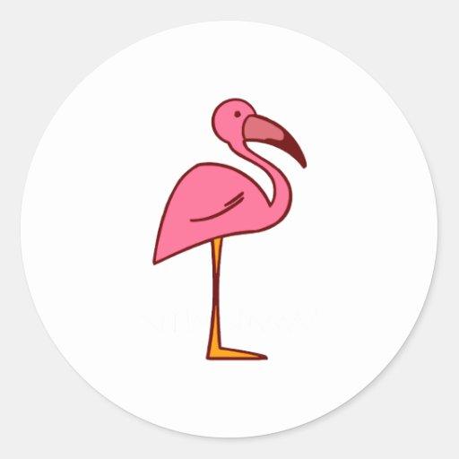 Figgy Flamingo Sticker