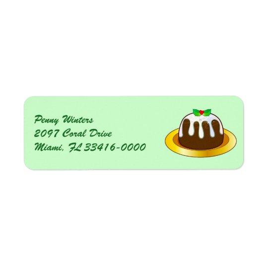 Figgy Pudding for Christmas Return Address Label