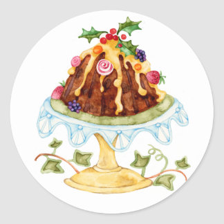 Figgy Pudding Round Sticker