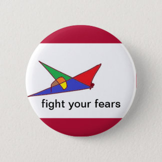 Fight 6 Cm Round Badge