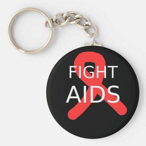 Fight AIDS Keychains