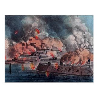 Fight at Charleston. Postcard