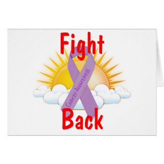 Fight Back Cancer Awareness Greeting Card