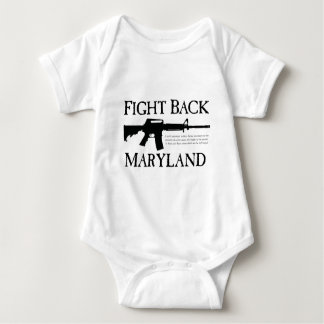 FIGHT BACK MARYLAND BABY BODYSUIT