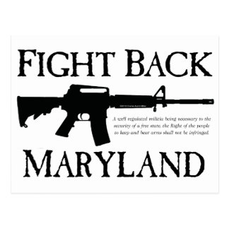 FIGHT BACK MARYLAND POSTCARD