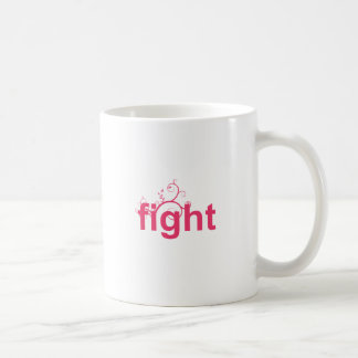 fight basic white mug