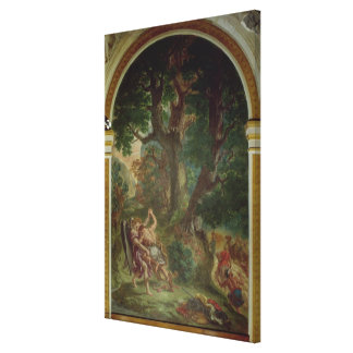 Fight between Jacob and the Angel, 1850-61 Canvas Print