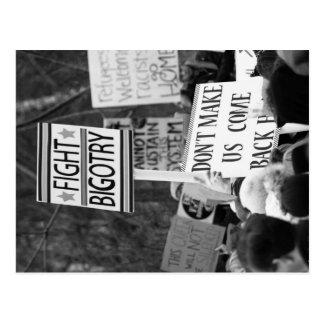 Fight Bigotry Postcard