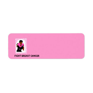 FIGHT BREAST CANCER Return Address Labels