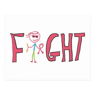 Fight Cancer Postcard