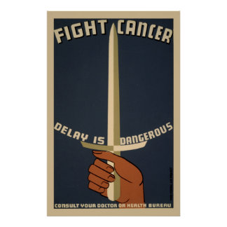 Fight Cancer WPA Vintage Poster