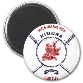 Fight Club Grunge print with samurai swords Magnet