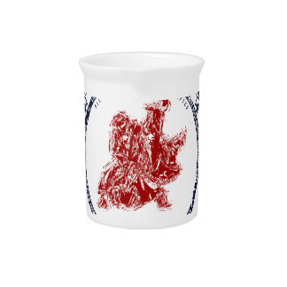 Fight Club Grunge print with samurai swords Pitcher