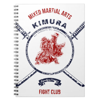Fight Club Grunge print with samurai swords Spiral Notebook