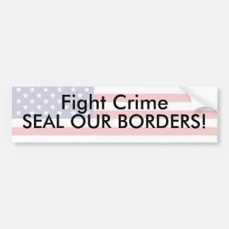 Fight Crime Bumper Sticker