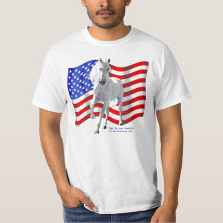 Fight for Freedom White Horse T-Shirt