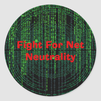 Fight for Net Neutrality Classic Round Sticker