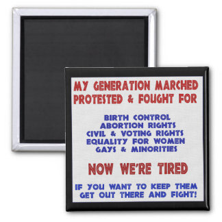 Fight For Rights Square Magnet